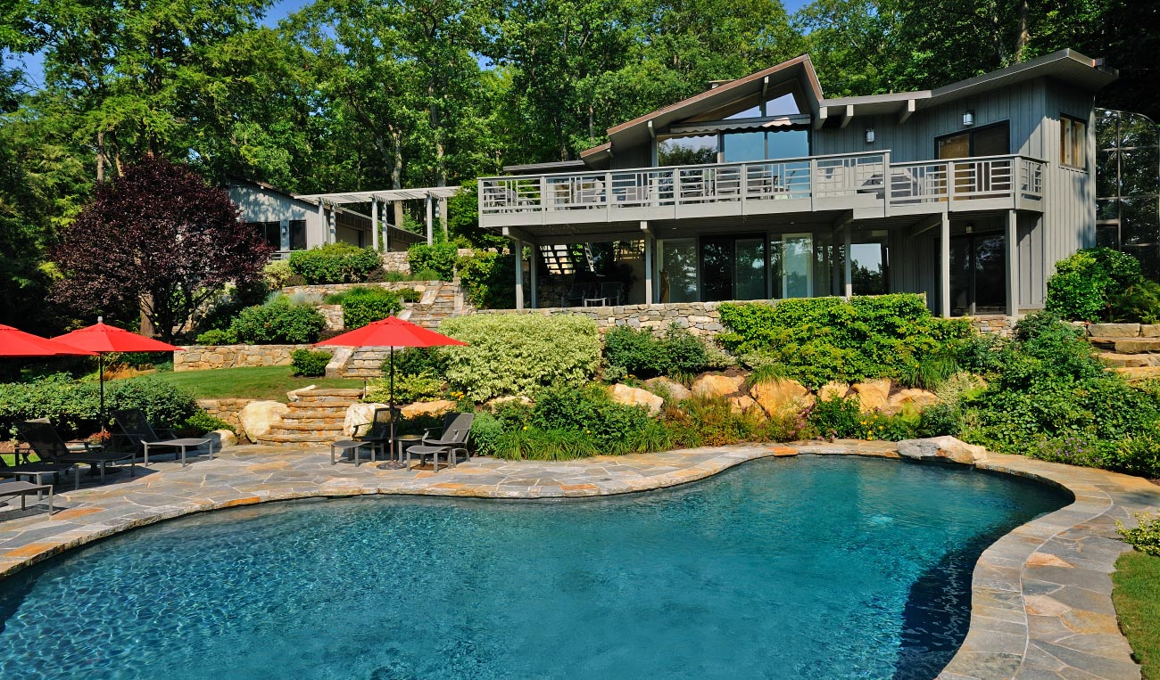 The frame around your pool is one of the most important parts of your poolscape.