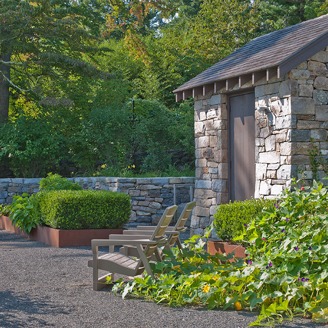 The LaurelRock Company provides year-round property enhancements such as edible gardens in the Summer.